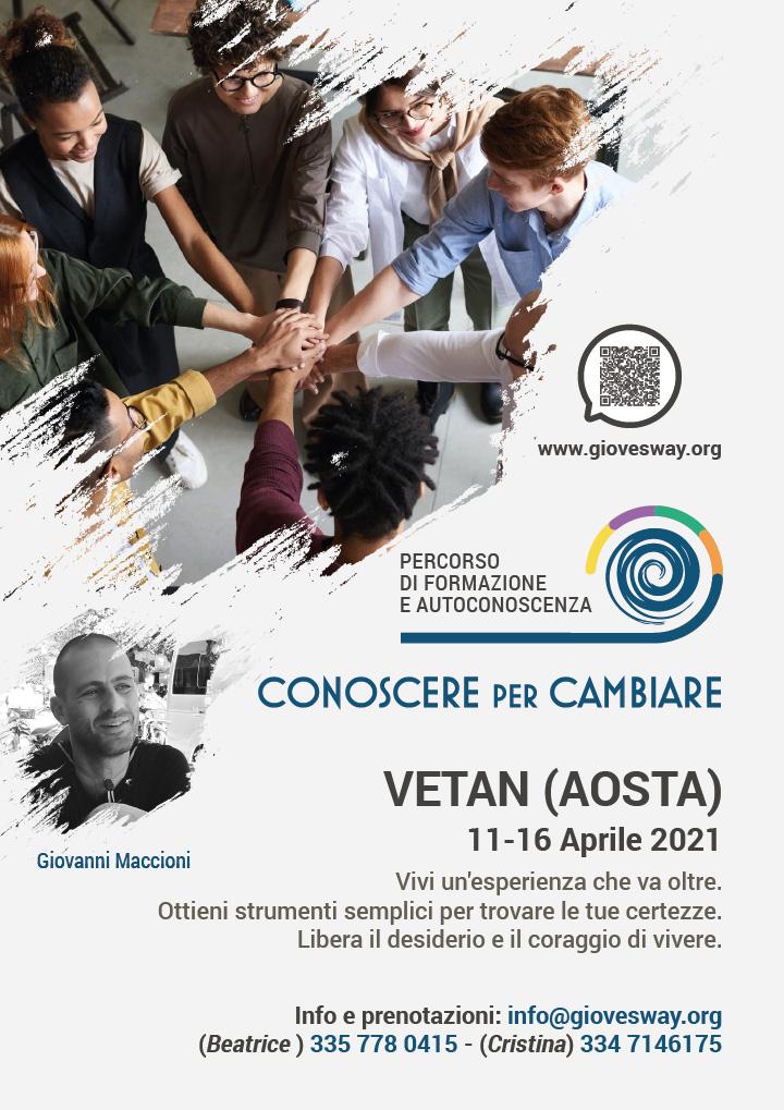 Residenziale Conoscere per Cambiare - Vetan (Aosta) - 11-16 Aprile 2021